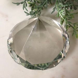 Rosenthal Accents - Rosenthal Diamond Cut Clear Crystal Paperweight